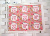 "LOTTO 9 stickers adesivi in carta ""Thank you"" (4x3cm)"