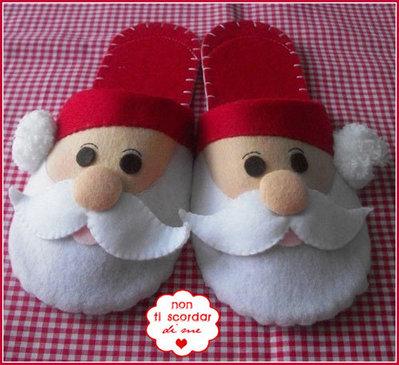 Pantofole Santa Claus