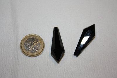 Coppia prisma in cristallo sfaccettato