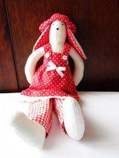 Coniglietta Tilda rossa