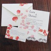 Set partecipazione nozze petali