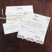 Set partecipazione nozze romantico