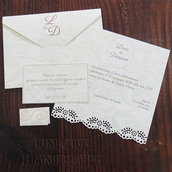 Set partecipazione nozze elegante