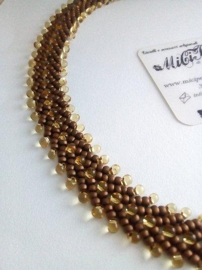 Girocollo in Tessitura di Perle