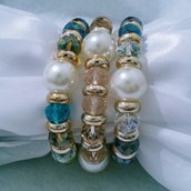 """Bracciale con cristalli e perle acriliche """"Tre Re"""""""