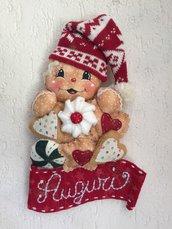 NATALE - Fuori porta con ginger , dolci e scritta auguri