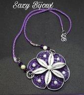 PERL-FLOWER: Collana con fiore grande e perle ralizzara con capsule di Caffè