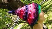 Crochet Uncinetto Cappello 'Mirtilli' / Cappello di Fata / Berretto di Elf del bosco / Freeform / OOAK / cappello stravagante / cappello di Pixie