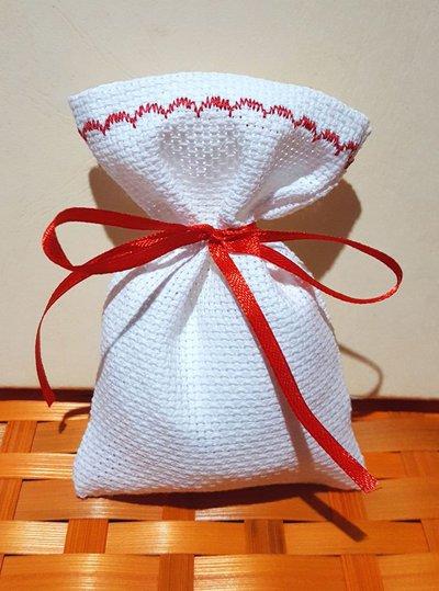 Stock 30 sacchetti da ricamare punto croce bomboniere segnaposto portaconfetti
