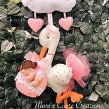 Cicogna con tutù - fiocco nascita