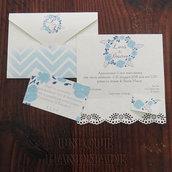 Set partecipazione nozze blu