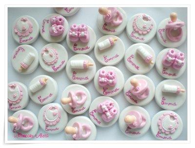 Calamite rotonde decorate a mano in pasta di mais
