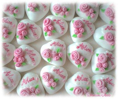 Confetti Magnum decorati in rosa con nome