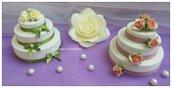 Bomboniera torta ceramica wedding cake gessetto