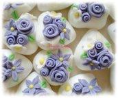 Confetti magnum decorati con fiori e rose