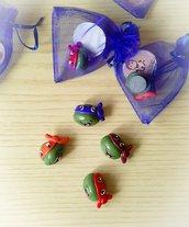Bomboniera tartarughe ninja fimo nascita comunione compleanno