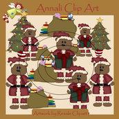 Clip Art per Scrapbooking e Decoupage - Babbo Natale Orso - IMMAGINI
