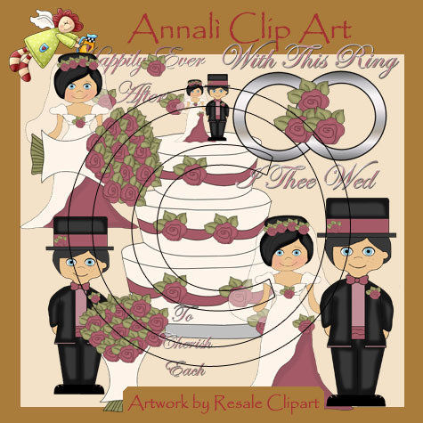 Clip Art per Scrapbooking e Decoupage - Sposi Matrimonio Mori - IMMAGINI - Wedding