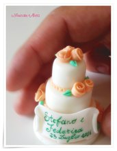 Mini wedding cake con pergamena in pasta di mais