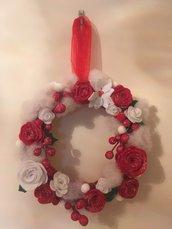 Ghirlanda natalizia rose
