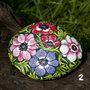 Dipinto su pietra - FIORI (anemoni)- Opera d'arte - Idea regalo - oggetto da collezione