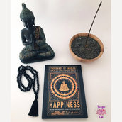 "Targhetta in legno ""HAPPINESS..."" - Buddha"
