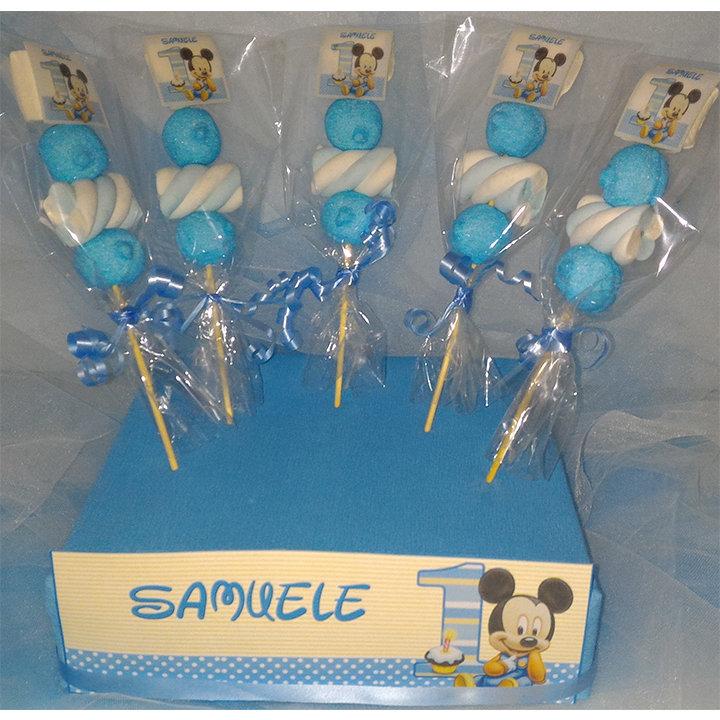 Spiedini in Marshmallow TOPOLINO Baby _Personalizzati_NOME ANNI_