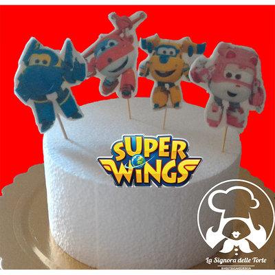 TOPPER per torta Super WINGS  _CIALDA _COMPLEANNO_Cup Cake _DECORAZIONE