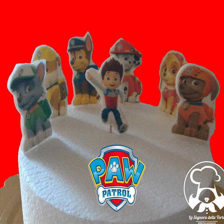 TOPPER per torta PAW PATROL _CIALDA _COMPLEANNO_Cup Cake _DECORAZIONE