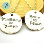 "Collanina Grey's Anatomy ""YOU'RE MY PERSON"""