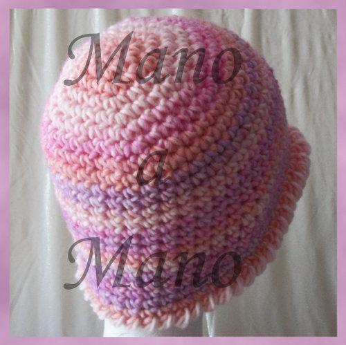 Cappello a cloche rosa sfumato - Donna - Abbigliamento ...