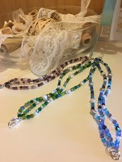 Bracciale con Perle di Acqua Dolce e perline di vetro