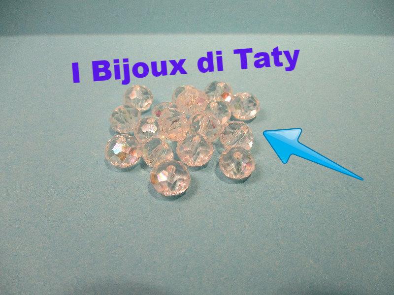 Perle trasparenti sfaccettate da 6mm