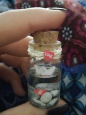 Ciondolo bottiglietta romantica