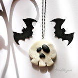 Collana Halloween con teschio
