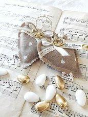 Cuore di stoffa profumato con confetti