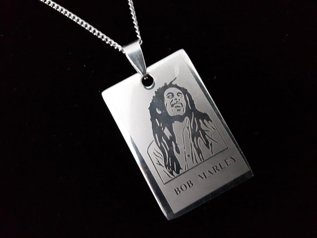 Catena in Acciaio con pendente Bob Marley
