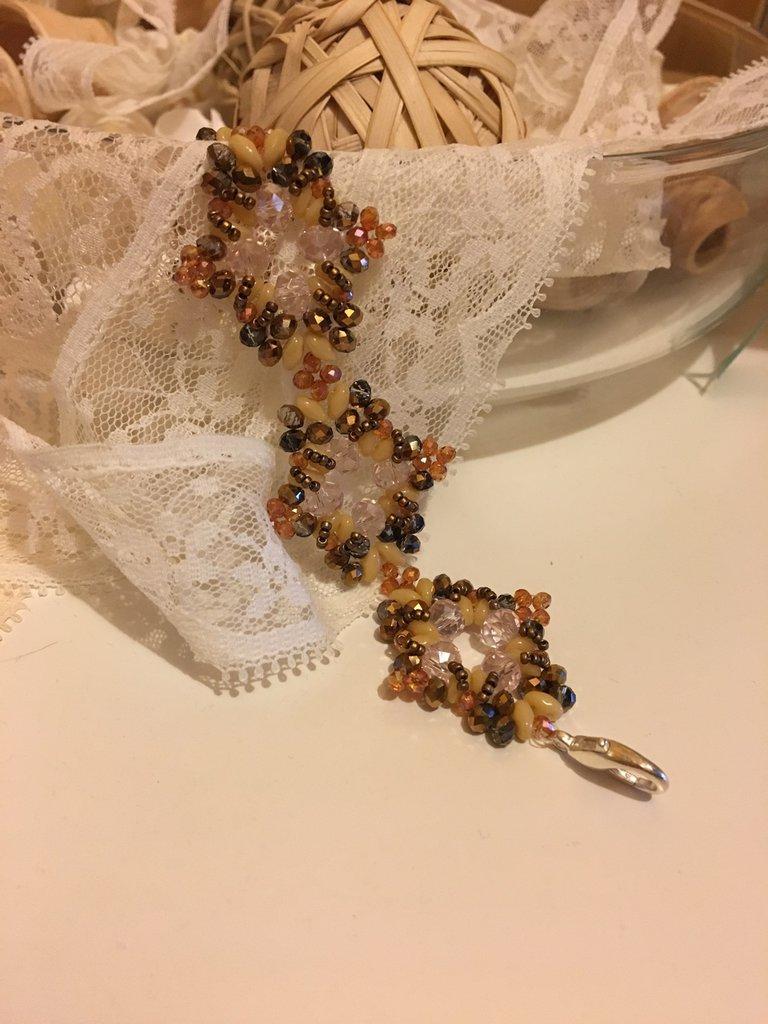 Bracciale in Perline di vetro-Magia d'Autunno