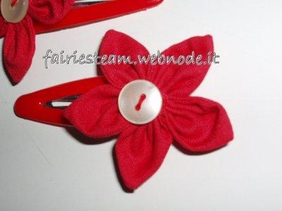 Mollettine per capelli fiore/ flower hair clips