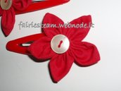 Mollettine per capelli fiore/ flower hair clips