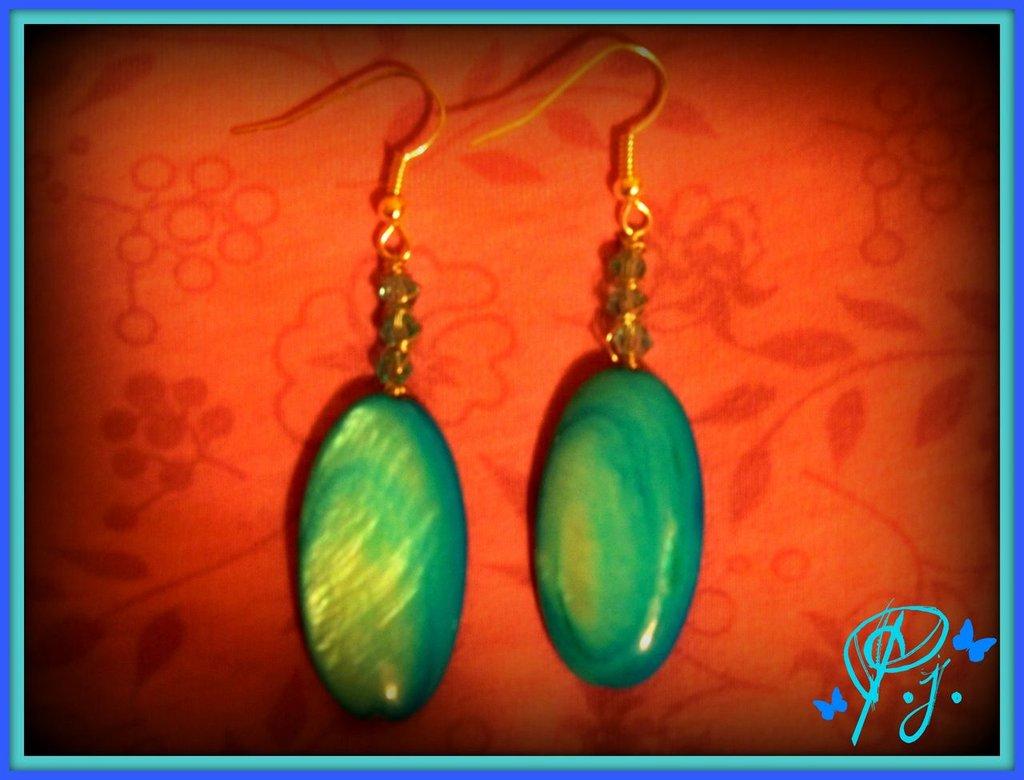orecchini madreperla azzurra