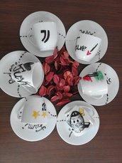 tazzine da caffè decorate a tema calcio