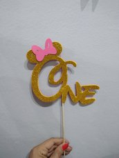 Cake topper one minnie mouse