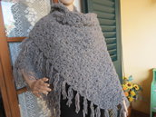 scialle lana grigia