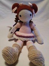 Bambola in cotone realizzata a mano.....Rosita