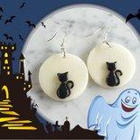 Orecchini a tema Halloween - Gatto nero