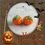 Orecchini a tema Halloween - Zucche