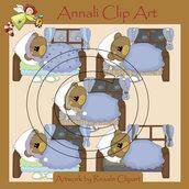 Clip Art per Scrapbooking e Decoupage - Orsetto fà la Nanna - IMMAGINI