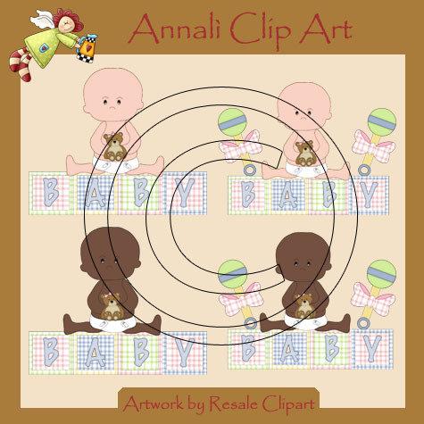 Clip Art per Scrapbooking e Decoupage - Bebè Maschietto - IMMAGINI