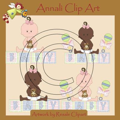 Clip Art per Scrapbooking e Decoupage - Bebè Femminuccia - IMMAGINI